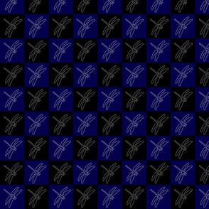 Dragonfly blue black