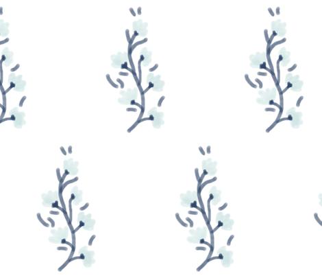 Petite Vines in Seafoam fabric by fraichebaby on Spoonflower - custom fabric