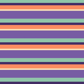 Strips & Stripes (Eggplant Horizontal)