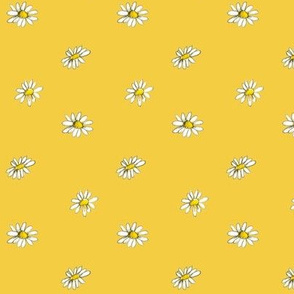 Chamomile on Yellow