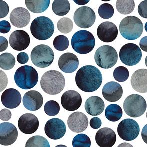 Blue watercolor circles