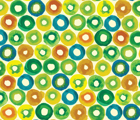 fruity circles fabric by ravecave on Spoonflower - custom fabric