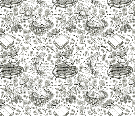 Lake Food fabric by karry_l on Spoonflower - custom fabric