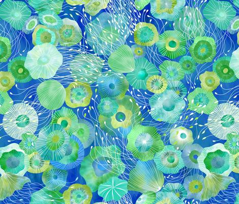 Jellyfish Encircled fabric by vo_aka_virginiao on Spoonflower - custom fabric
