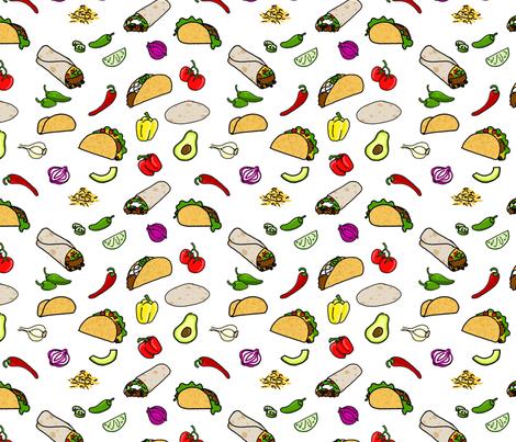 Taco! Taco! Taco! (Burrito!) fabric by geekygamergirl on Spoonflower - custom fabric