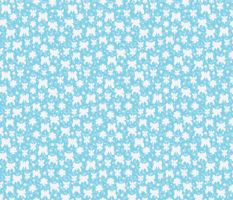 Butterflies &  Daisies fabric by limolida on Spoonflower - custom fabric