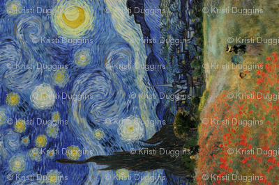 Monet's Poppies + Starry Night Collage 2.0