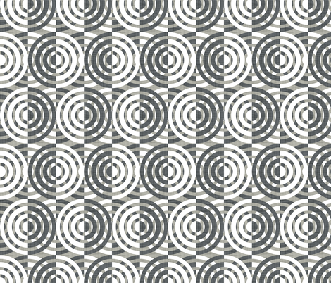 Ring A Round - Grey fabric by heatherdutton on Spoonflower - custom fabric