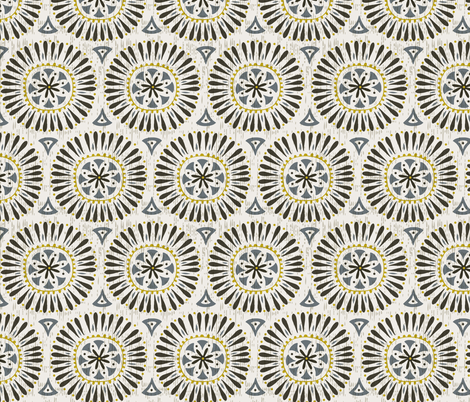Marcello - Charcoal  fabric by heatherdutton on Spoonflower - custom fabric