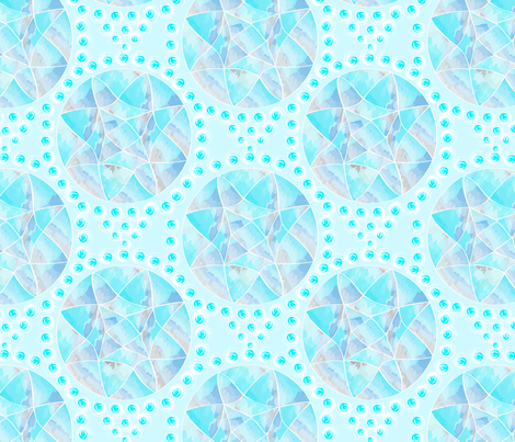 Watercolor circles fabric by everhigh on Spoonflower - custom fabric