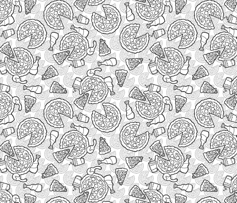 pizza party fabric by hannafate on Spoonflower - custom fabric