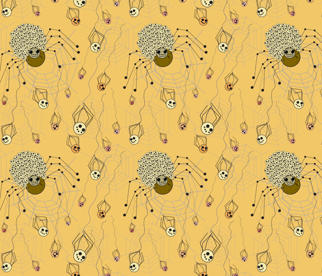 Mama_spiderlings fabric by mariastar on Spoonflower - custom fabric