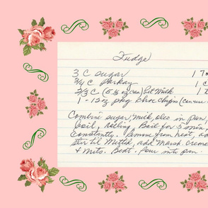 Fudge Recipe Tea Towel