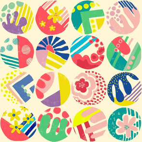 Circlefun. Colorful circle design. Geometric pattern.
