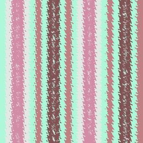 JP28 - Mauve and Mint Green Jagged Stripes