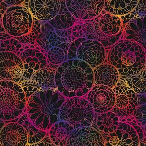 Rainbow Mandala Flowers