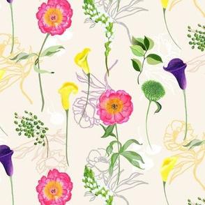 Botanical Peonies