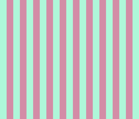 JP28 - Creamed Raspberry Pink and Minty Green basic stripe fabric by maryyx on Spoonflower - custom fabric