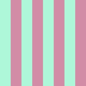 JP28 - Creamed Raspberry Pink and Minty Green basic stripe
