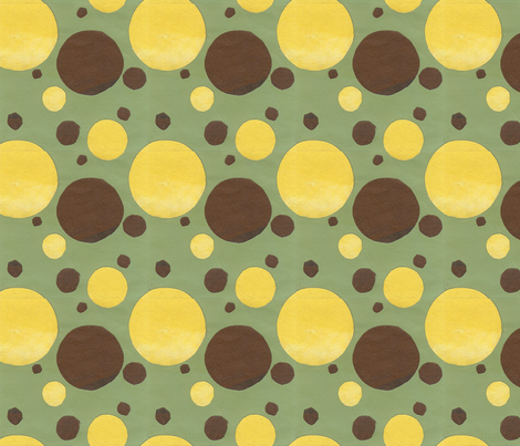 Coffee Circles fabric by sueclancy on Spoonflower - custom fabric