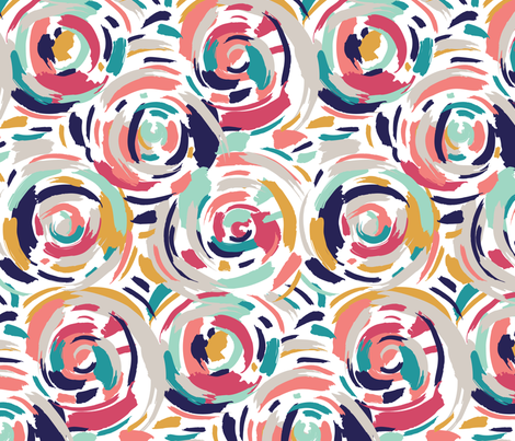 Abstract Circles fabric by jenflorentine on Spoonflower - custom fabric