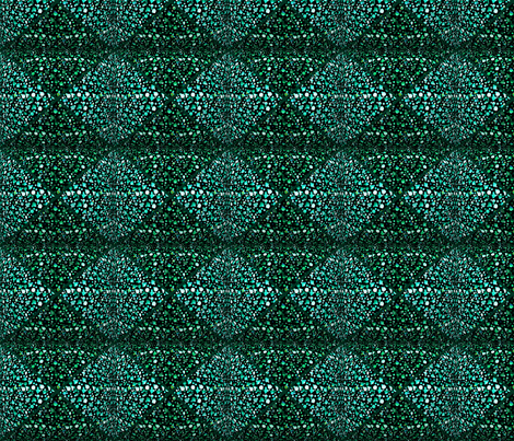 Emerald Shade of Triangles fabric by sherry-savannah on Spoonflower - custom fabric