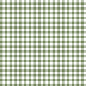Green Gingham Mini