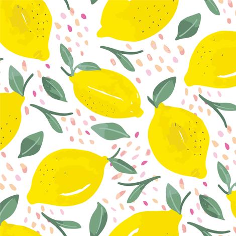 Lemons fabric by morsky on Spoonflower - custom fabric