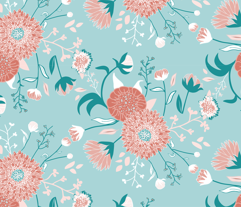 Flower bouquet fabric by morsky on Spoonflower - custom fabric