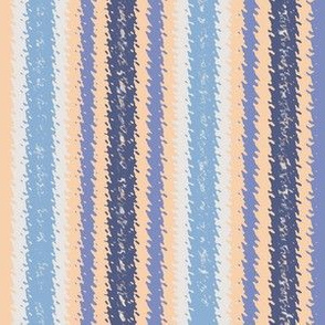 JP29 - Eggshell and Blue Jagged Stripes