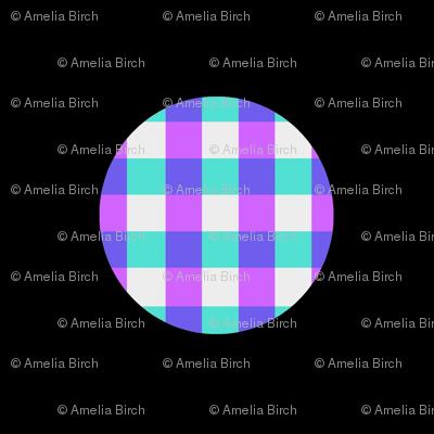 Gingham polka dots