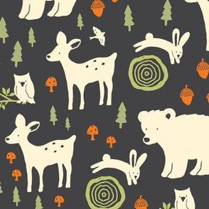 Forest Animals - brown