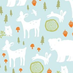 Forest Animals - light blue