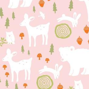Forest Animals - pink