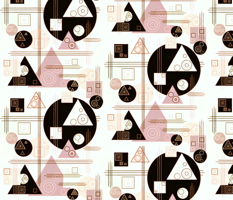 RETRO PINKS AND CREAMS fabric by heckadoodledo on Spoonflower - custom fabric