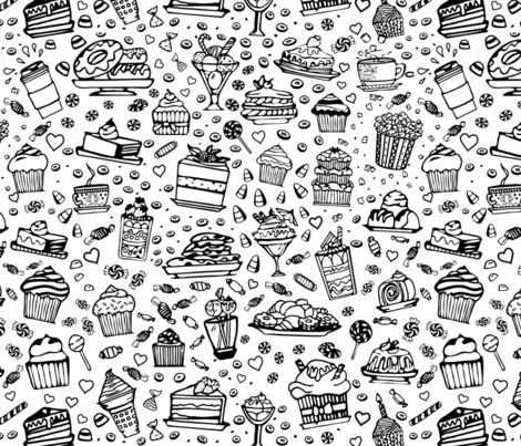 Dessert overload fabric by liliacii on Spoonflower - custom fabric