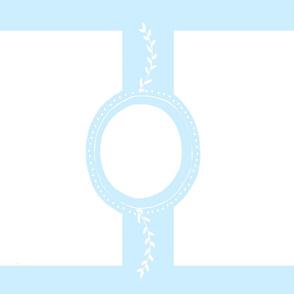 monogram blank for 54 YARD -  blue on 1 yard