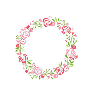 monogram blank -  center Petal 14 shabby chic rose wreath