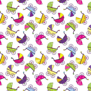 Colorful Baby Carriages-ed