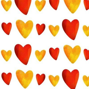 Red and Gold Hearts - Mexican Food Coordinate