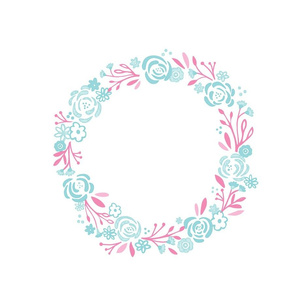 monogram blank centered 12 -Mint Pink shabby chic rose wreath