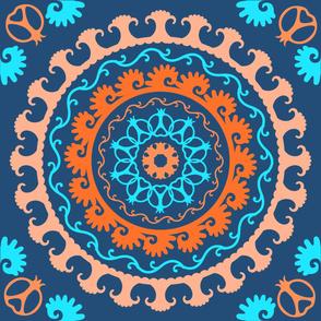 Tajik Pattern Blue