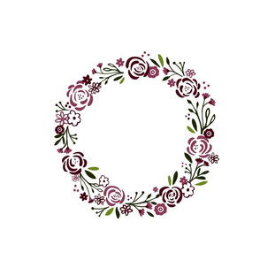 monogram blank center -purple passion 12  shabby chic rose wreath
