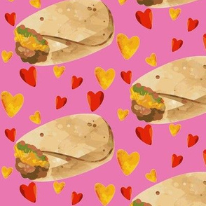I Love Burritos on Pink