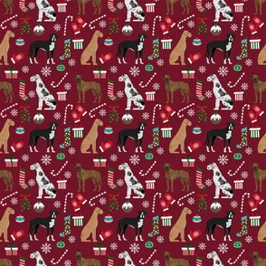 SMALL - Great Dane christmas fabric - cute dog breed design with presents, candy canes, food, xmas holiday fabric