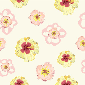 Spring Flower Party - Ivory