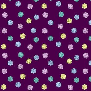 D20 pastel purple