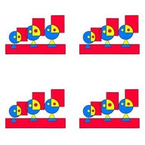 FA_7000_C Funny Family Faces in a Row