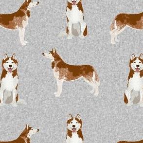 husky dog fabric - grey design - pet quilt e