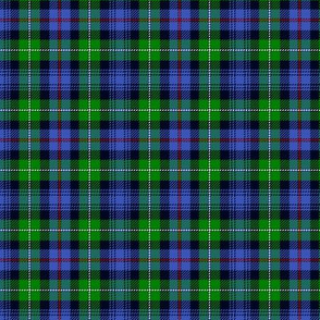 "Mackenzie / Seaforth Highlander tartan, 3"", modern colors (with twill lines)"